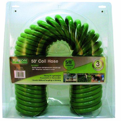 Flexon Coil Hose, Green, 50 feet