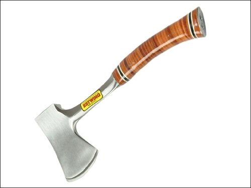 """Estwing E24A Sportsman Axe with Leather Grip and Nylon Sheath, 14"""""""