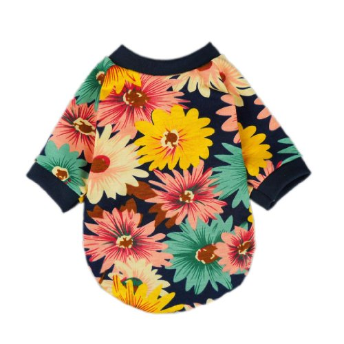 Fashion Summer Floral Dog T-shirt for Pet Dog Clothes