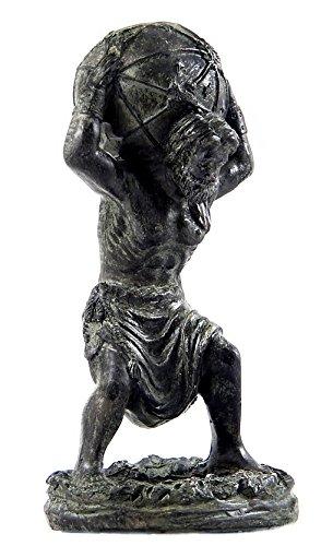 "Bronze Finish ""Atlas Holding the Heavens"" Desktop Office Statue"