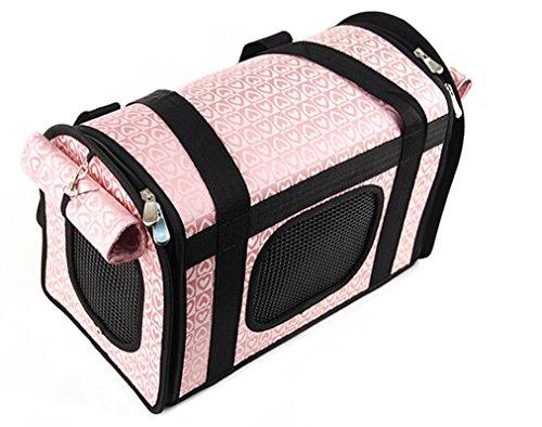 Lovely Shining Heart Dog Carrier Shoulder Bag Pink