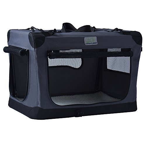 Collapsible Foldable Dog Crate, Indoor & Outdoor