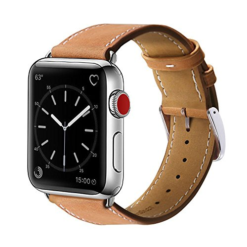 For Apple Watch Band, 42mm Marge Plus Genuine Leather