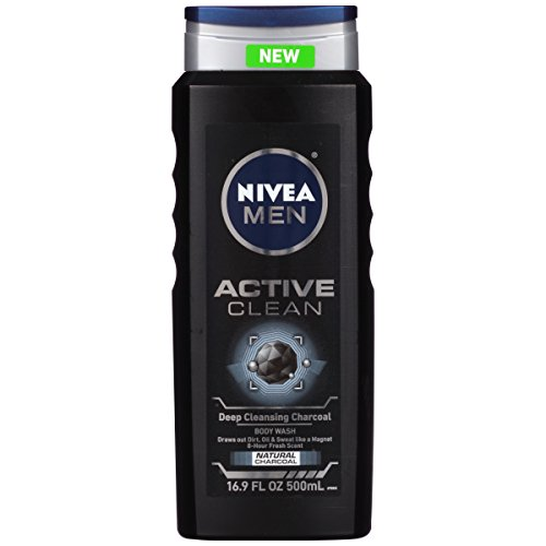 Nivea for Men Active Clean Body Wash, Natural Charcoal