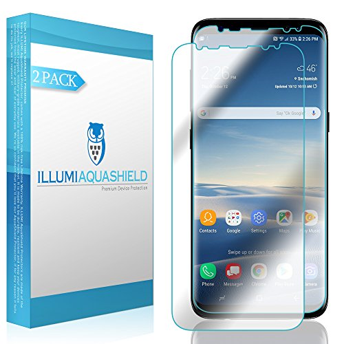 Galaxy S8 Plus Screen Protector (2-Pack, Case Friendly Updated Design), ILLUMI AquaShield Full Coverage Screen Protector for Galaxy S8 Plus HD Clear Anti-Bubble Film