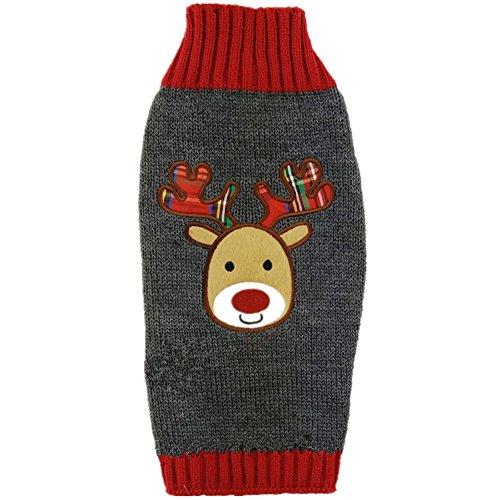 Tangpan Pet Turtleneck Dog Sweater Puppy Cats Apparel Color Grey Reindeer Size XS