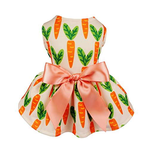 Fitwarm Carrot Ribbon Pet Clothes for Dog Dresses