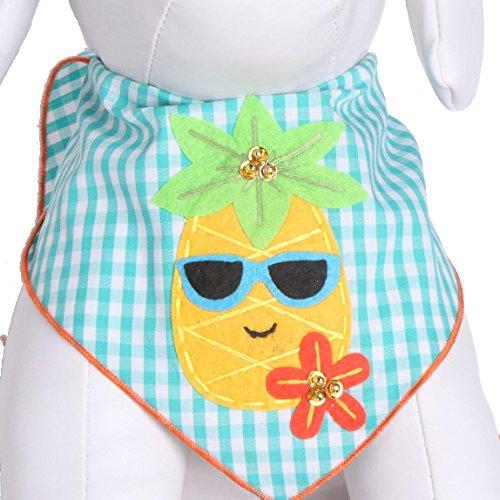 Tail Trends Dog Bandanas Hawaiian Vacation Pineapple Fun Design
