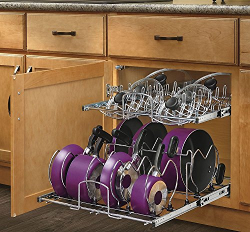 Rev-A-Shelf 21 in. Pull-Out 2-Tier Base Cabinet Cookware Organizer