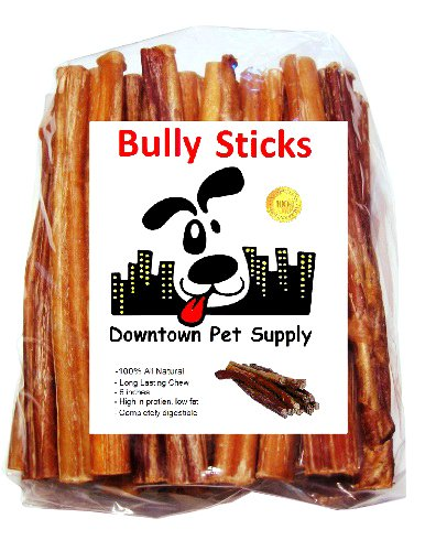 "6"" BULLY STICKS - Free Range Standard Regular Thick Select 6 inch (10 Pack), by Downtown Pet Supply"