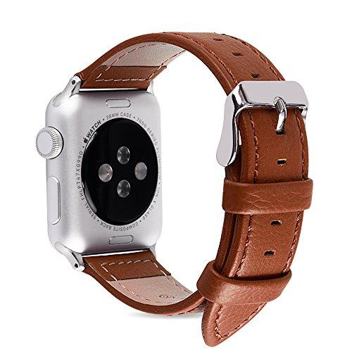 Apple Watch Bands 38mm and 42mm, Fullmosa Jan Calf Leather Replacement Band