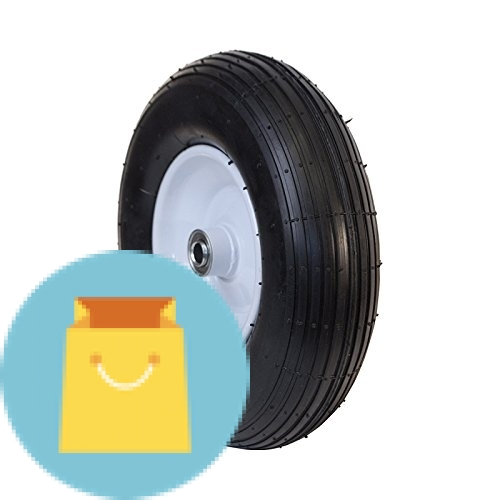 Pneumatic Welded Rim Replacement Wheel for Wheelbarrow 13 Inch