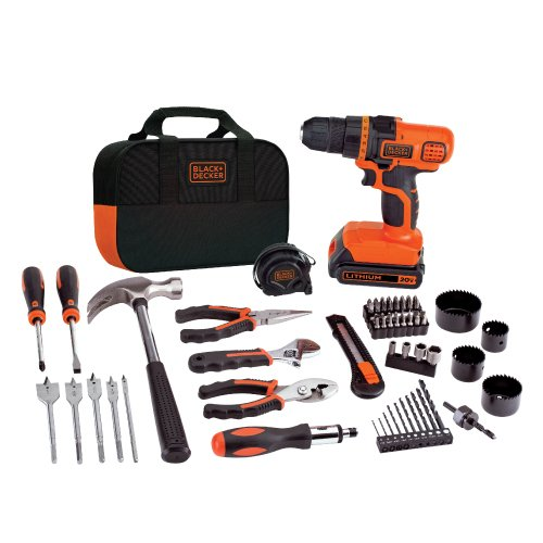BLACK+DECKER 20-Volt MAX Lithium-Ion Drill and Project Kit
