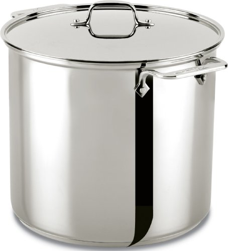 All-Clad Stainless Steel Dishwasher Safe Stockpot Cookware, 16-Quart, Silver