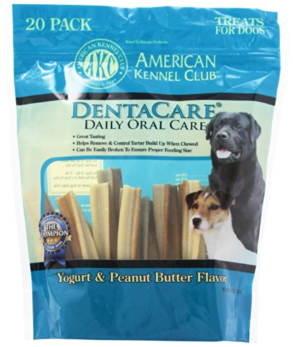 American Kennel Club 20 Count Yogurt and Peanut Butter DentaCare Dog Treats