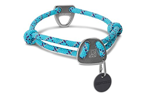 Ruffwear Knot-a-Collar Rope Dog Collar, Blue Atoll, Medium