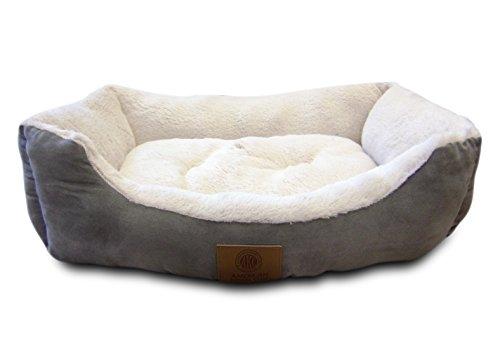American Kennel Club Suede Cuddler Solid Pet Bed