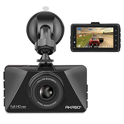 AKASO Dash Cam FHD 1080P 3 Inch Screen Dash Camera 170 Wide Angle Car Camera