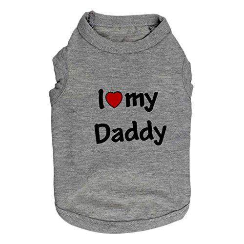 "Shirts Vest with "" I Love My Daddy "" Words for Yorkshire Terrier"