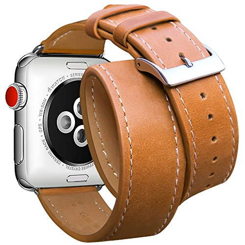 Apple Watch Band 38mm, Marge Plus Genuine Leather Double Tour iwatch Strap