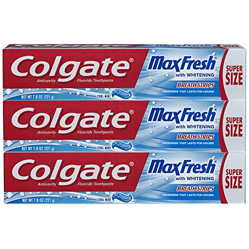 Colgate Max Fresh Toothpaste with Breath Strips - Cool Mint