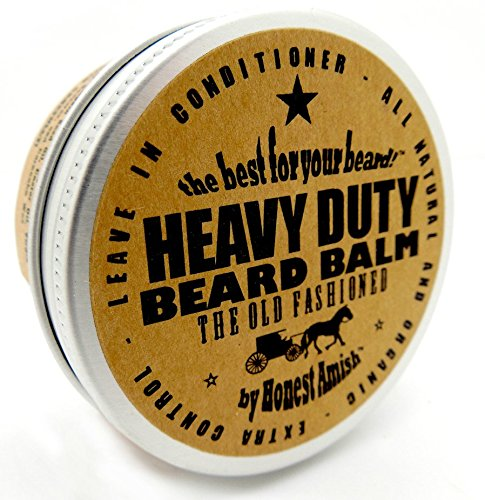 Honest Amish - Heavy Duty Beard Balm - 2 Ounce - Beard Conditioner