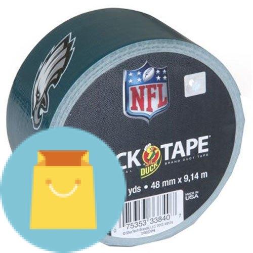 Duck Brand Philadelphia Eagles NFL Team Logo Duct Tape, 1.88-Inch by 10 Yards, Single Roll