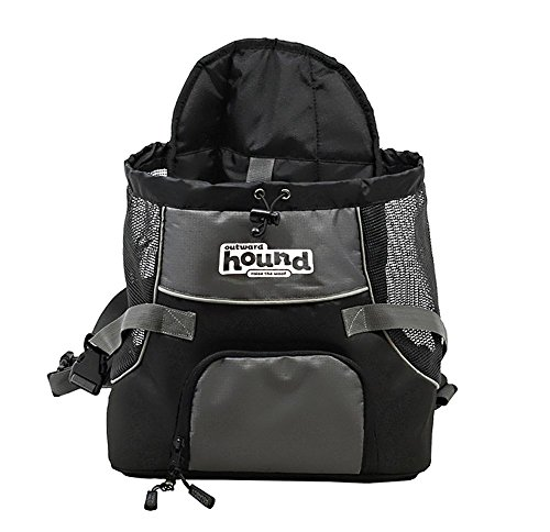 Poochpouch Dog Carrier, Front Carrier for Small Dogs by Outward Hound, Medium, Grey