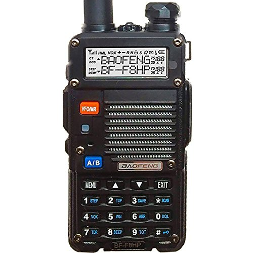 BaoFeng Watt Dual Band Two-Way Radio (136-174MHz VHF & 400-520MHz UHF) Includes Full Kit with Large Battery