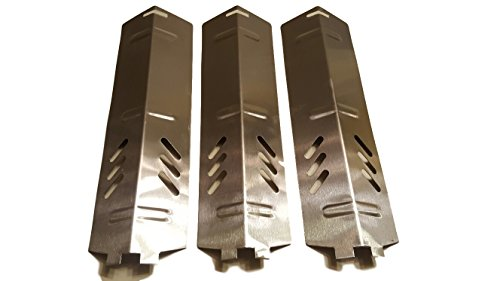 Set of Three Stainless Steel Heat Plates for Gas Grill Model Backyard Grill and other backyard grill models