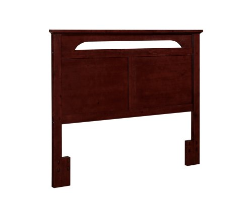Dorel Living Queen or Full-Sized Headboard in Solid Wood in Cherry Finish