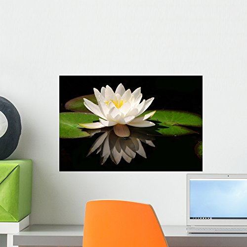 White Lotus Flower Wall Mural by Peel and Stick Graphic