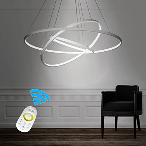 LightInTheBox Dimmable 90W Pendant Light Modern Design LED Three Rings Chandeliers