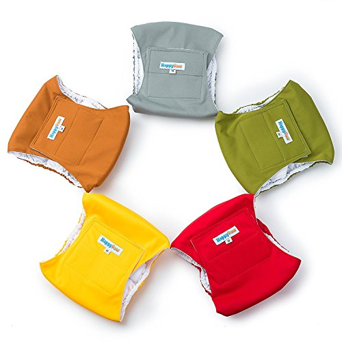 Reusable Washable Dog Belly Bands (5 Pack)