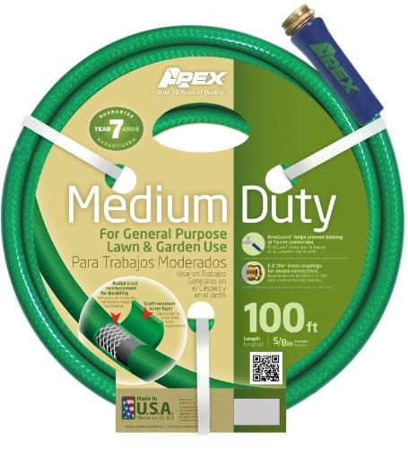 Apex Medium Duty Garden Hose, 5/8-Inch by 100 Feet