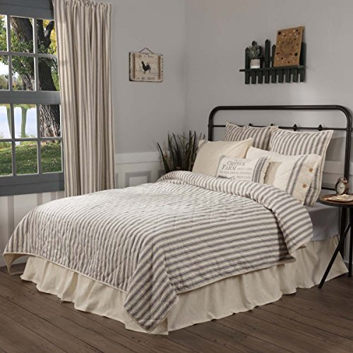Piper Classics Market Place Ticking Stripe Quilt, King