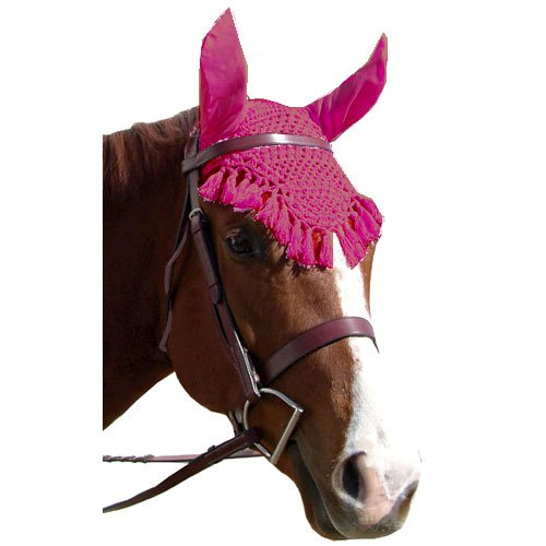 Intrepid International Fancy Ear Nets for Horses, Red