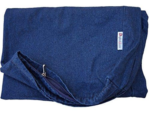 Durable Denim Jean Dog Pet Bed External zipper Cover