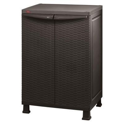 """Keter 26"""" x 39"""" Freestanding Indoor/outdoor Plastic Rattan Base Cabinet"""
