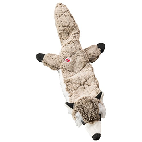 Ethical Pets Raccoon Skinneeez Extreme Stuffingless Quilted Dog Toy, 23""
