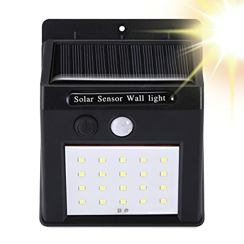 Solar Motion Sensor Lights Outdoor,PATHONOR 20 LED Wireless Weatherproof Solar Powered Wall Lights With Activated Auto On/Off For Garden,Yard, Deck,Driveway,Patio