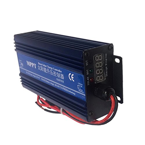 MagiDeal Intelligent MPPT Boost Solar Charge Controller Panel Regulator 48V-72V IP30