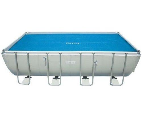 "Intex Solar Cover for 18ft X 9ft Rectangular Frame Pools, Measures 17' 8"" X 8' 4"""