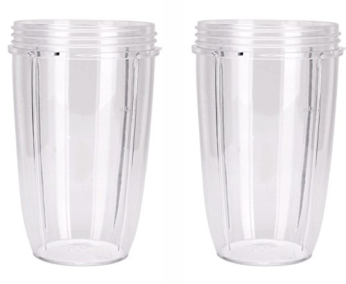 NutriBullet Replacement Cups (Tall - 24-Once) by Preferred Parts   Premium NutriBullet Replacement Parts and Accessories (Pack of 2)