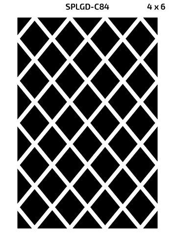Green Decore Diamond Outdoor/Light Weight/Reversible Eco Plastic Rug, (4 x 6, Black/White)