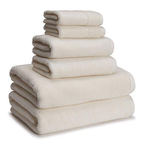 Kassatex Kyoto Towel Set of 6 Kyt-256-Irt, Ivory Tusk, 6 Piece