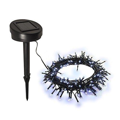 Aleko Solar Powered 200LED Christmas Holiday String Lights, White