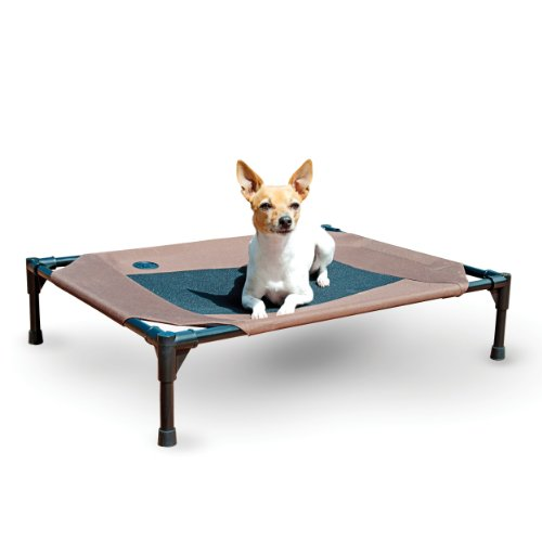 K&H Pet Products Original Pet Cot Elevated Pet Bed Medium Chocolate/Mesh