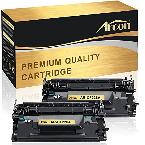 Arcon 2 Packs Compatible for HP 26A CF226A MFP M426FDW Black Toner Cartridge for HP LaserJet Pro M402dn M402n M402d M402dw for HP LaserJet Pro MFP-M426dw MFP-M426fdw MFP-M426fdn Printer