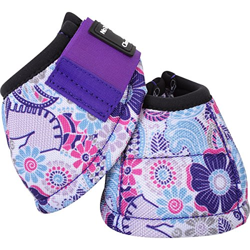 Classic Equine Purple Posey No Turn Horse Bell Boots Small